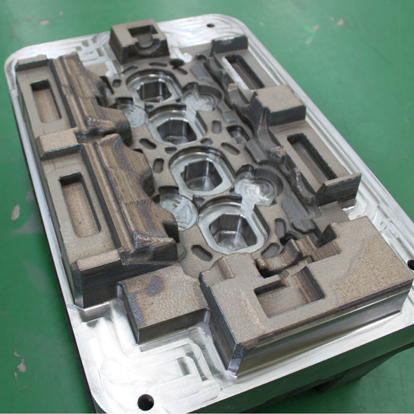 3d metal printed cylinder head mould