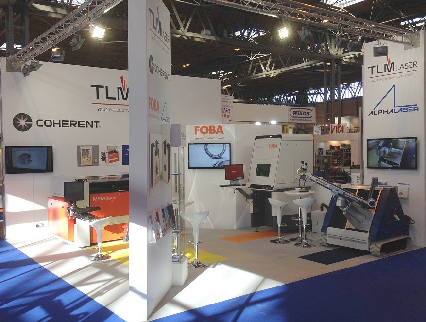 TLM Laser Ltd stand at the MACH Exhibition