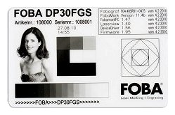 Laser marking ID Cards