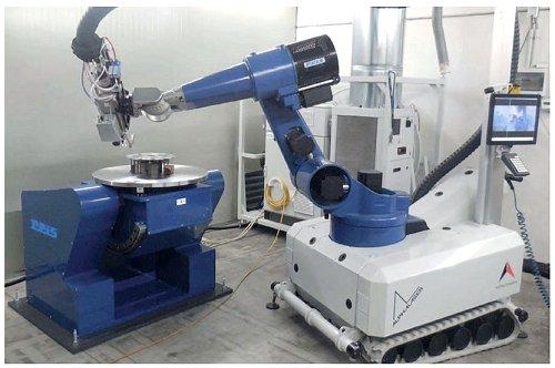 Laser hardening robot