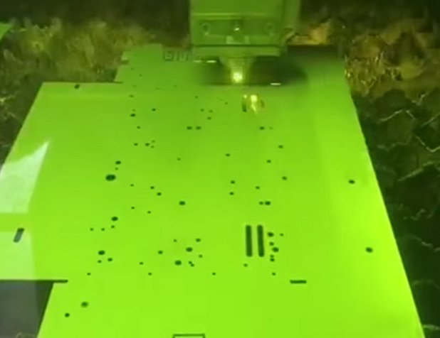 Laser cutting small parts and thin metal